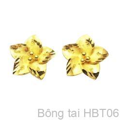 Bông Tai Cưới Vàng 24K - HBT06