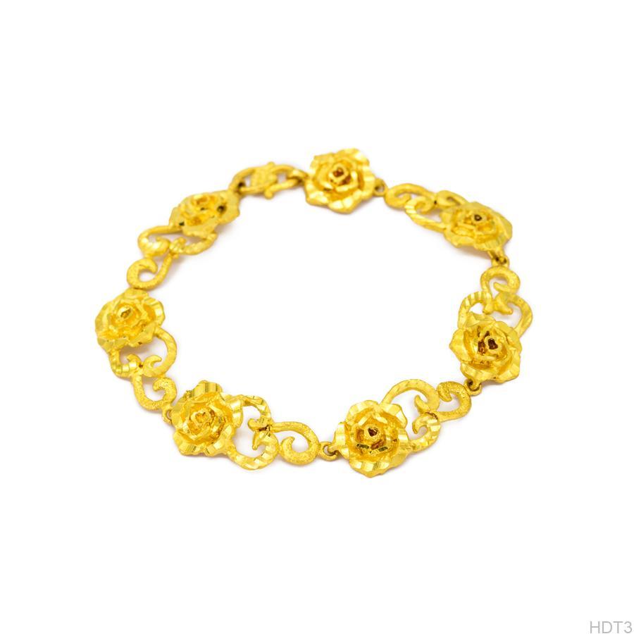 Lắc tay cưới vàng 24k APJ HDT3