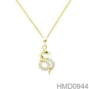 Mặt Dây Chuyền Vàng 18K Đính Đá CZ - HMD0944