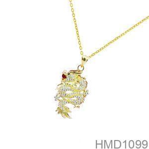 Mặt Dây Chuyền Vàng 18K Đính Đá CZ - HMD1099