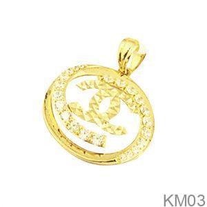 Mặt Dây Chuyền Vàng 18K Đính Đá CZ - KM03