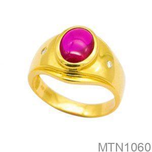 Nhẫn Nam Vàng 18K Đính Đá CZ - MTN1060