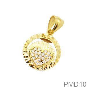 Mặt Dây Chuyền Vàng 18K Đính Đá CZ - PMD10