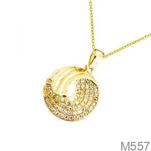 Mặt Dây Chuyền Vàng 18K Đính Đá CZ - M557