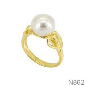 Nhẫn Nữ Ngọc Trai Vàng 18K - N862