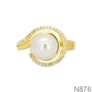 Nhẫn Nữ Ngọc Trai Vàng 18k - N876