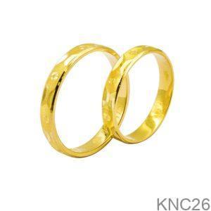 Nhẫn Cưới Vàng Vàng 18k - KNC26