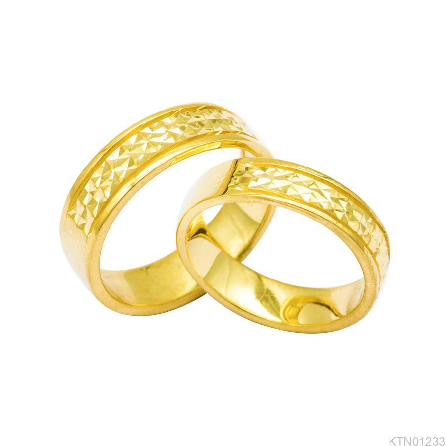 Nhẫn Cưới Vàng Vàng 10K - KTN01233