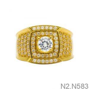 Nhẫn Nam Vàng 18K Đính Đá CZ - N2.N583