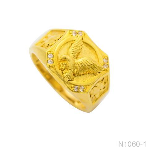 N1060-1 Nhẫn nam chim ưng vàng 18k