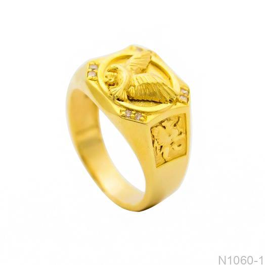 Nhẫn Nam Vàng 18K - N1060-1