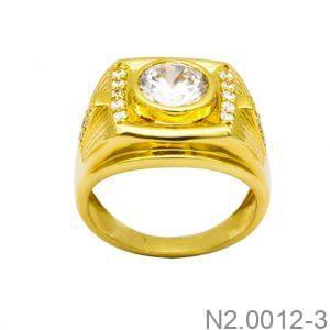 Nhẫn Nam Vàng 18K Đính Đá CZ - N2.0012-3