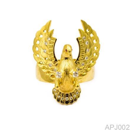 Nhẫn Nam Đại Bàng Vàng Vàng 18K - APJ002