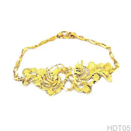 Lắc tay cưới vàng 24k phượng hoàngHDT05