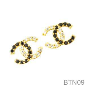 Bông Tai Vàng 18K Đính Đá CZ - BTN09