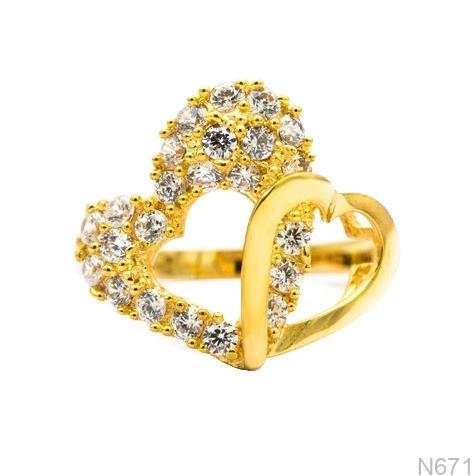 Nhẫn Nữ Vàng 18K Đính Đá CZ- N671