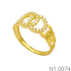 Nhẫn Kiểu Nữ APJ Vàng 18k - N1.0074