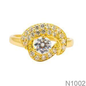 Nhẫn Nữ Vàng 18K Đính Đá CZ- N1002