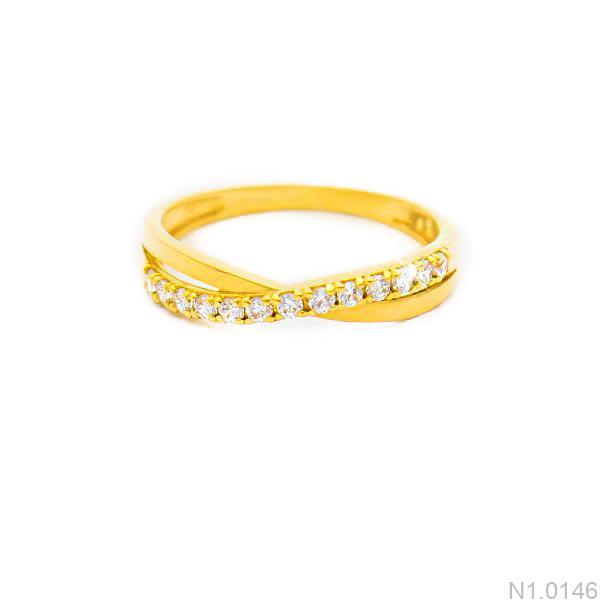 Nhẫn Nữ Vàng 18K Đính Đá CZ - N1.0146