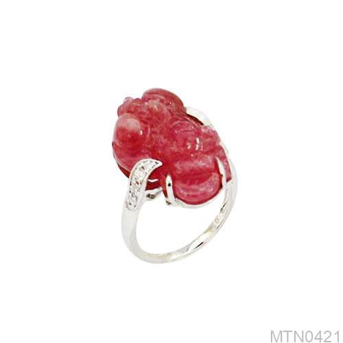 Nhẫn Nữ Tỳ Hưu APJ Vàng Trắng 10K - MTN0421