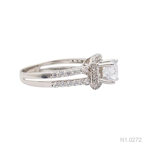 Nhẫn đính hôn vàng trắng N1.0272-1