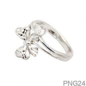 Nhẫn Nữ Vàng Trắng 10K Đính Đá CZ - PNG24