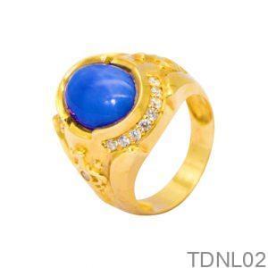 Nhẫn Nam Vàng 18K Đính Đá CZ - TDNL02