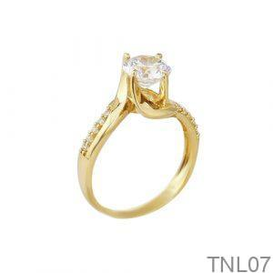 Nhẫn Đính Hôn Vàng 18k Đính Đá CZ - TNL07