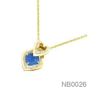 Mặt Dây Chuyền Vàng 18K Đính Đá CZ - NB0026