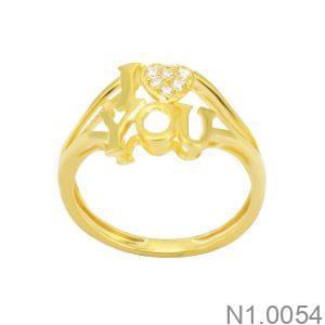 Nhẫn Kiểu Nữ APJ Vàng 18k - N1.0054