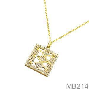 Mặt Dây Chuyền Vàng 18K Đính Đá CZ - MB214