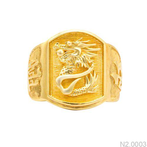 Nhẫn Nam Rồng Vàng Vàng18k - N2.0003