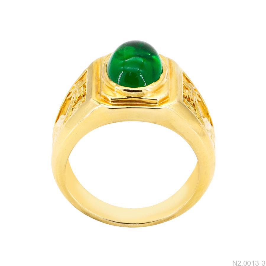 Nhẫn Nam Vàng Vàng 18K Đính Đá CZ - N2.0013-3