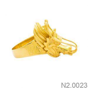 Nhẫn Nam Rồng Vàng Vàng 18K - N2.0023