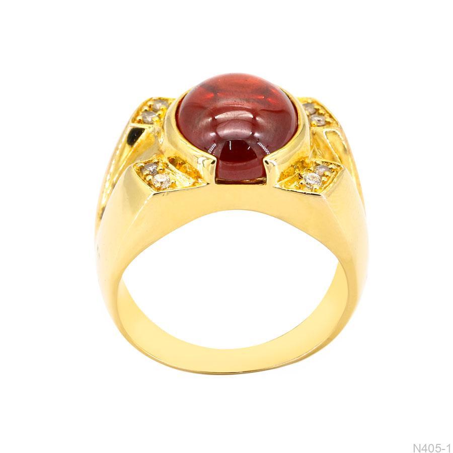 Nhẫn Nam Vàng Vàng 18K Đính Đá CZ - N405-1
