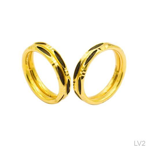 Nhẫn Cưới Vàng Vàng 18k - LV2