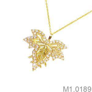 Mặt Dây Chuyền Vàng 18K Đính Đá CZ - M1.0189
