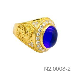 Nhẫn Nam Vàng 18K Đính Đá CZ - N2.0008-2