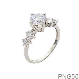 Nhẫn Nữ Vàng Trắng 10K Đính Đá CZ - PNG55