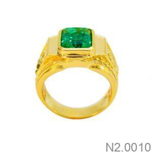 Nhẫn Nam Vàng 18K Đính Đá CZ - N2.0010