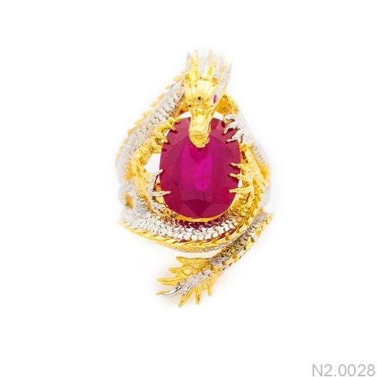 N2.0028-1 Nhẫn vàng nam hình rồng