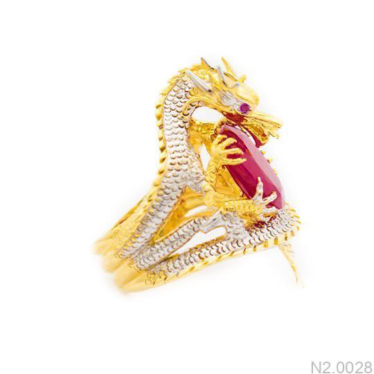 N2.0028-2 Nhẫn vàng nam hình rồng