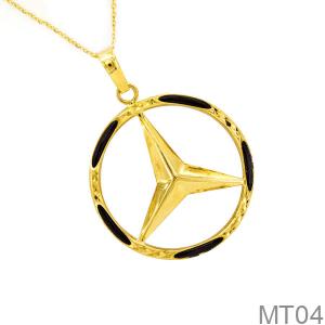Mặt Dây Chuyền Vàng 18k Mặt Kiểu Lông Voi - MT04