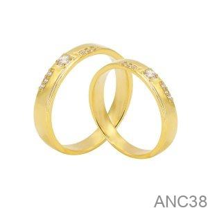 Nhẫn Cưới Vàng Vàng 18K - ANC38