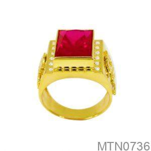 Nhẫn Nam Vàng 18K Đính Đá CZ - MTN0736