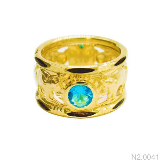 N2.0041-2 nhẫn vàng nam lông voi 18k apj