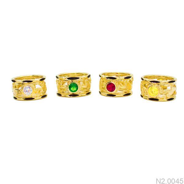 N2.0045-1 Nhẫn vàng nam lông voi rồng phượng