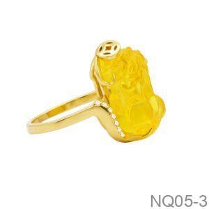 Nhẫn Nữ Tỳ Hưu Vàng 18k - NQ05-3