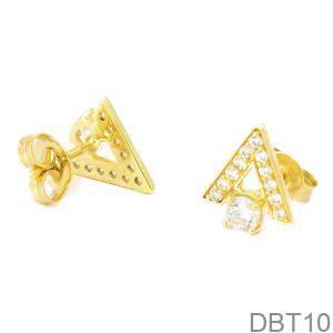 Bông Tai Vàng 18K Đính Đá CZ - DBT10