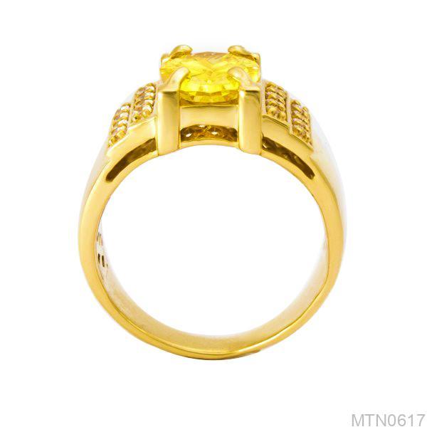 Nhẫn Nam Vàng 14k Đính Đá CZ - MTN0617